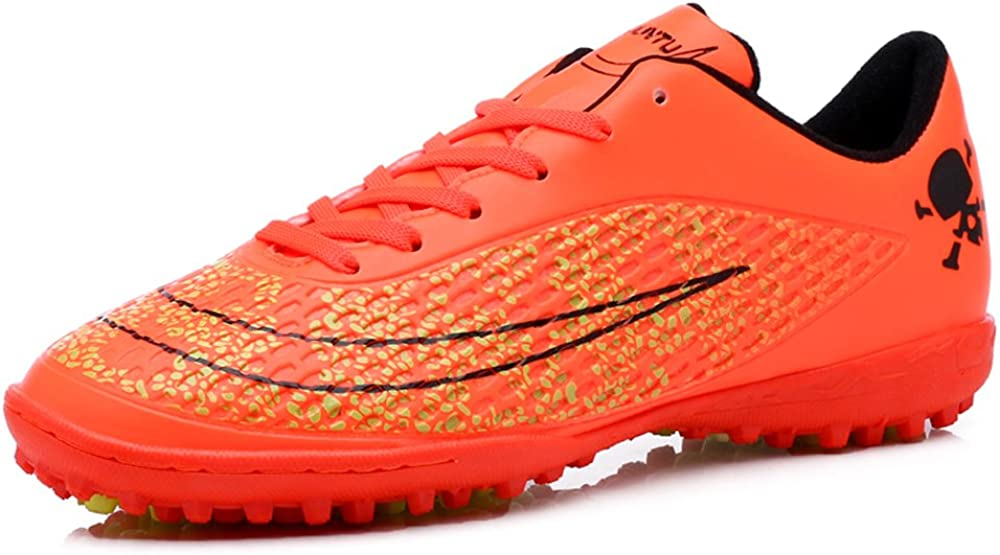 Anduode Boys Athletic Indoor//Outdoor Soccer Cleats Soccer Shoes Little Kid//Big Kid