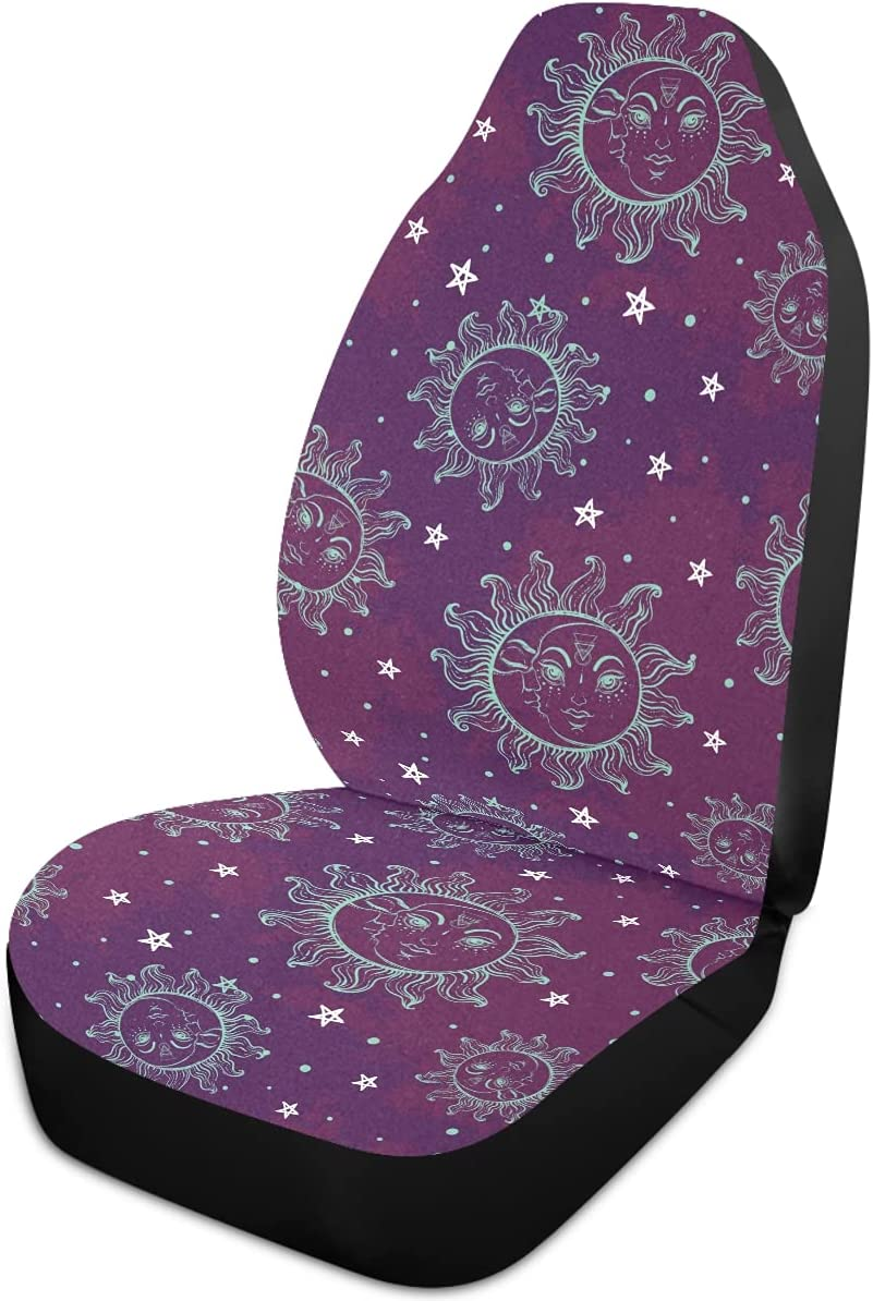 Oarencol Boho Sun Moon Star Bohemian Vintage Covers Car Uni Ranking TOP14 Seat Super Special SALE held