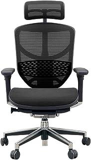 エルゴヒューマン エンジョイ オフィスチェア ブラック ヘッドレスト付き 3Dファブリックメッシュ ergohuman ENJOY EJ-HAM KMD-31