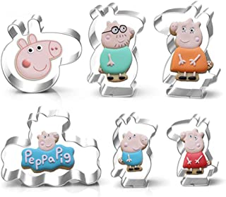 Cartoon Pig House Member Cookie Cutter- Stainless Steel