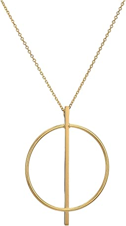 14KT Solid Gold Geometric Necklace