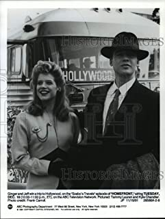 Historic Images - 1991 Press Photo Tammy Lauren and Kyle Chandler in Homefront on ABC