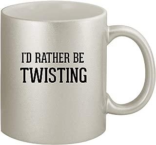 I'd Rather Be TWISTING - Ceramic 11oz Silver Coffee Mug, Silver