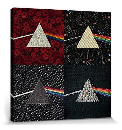 1art1 Pink Floyd - Dark Side of The Moon - Collections Cuadro, Lienzo Montado sobre Bastidor (60 x 60cm)