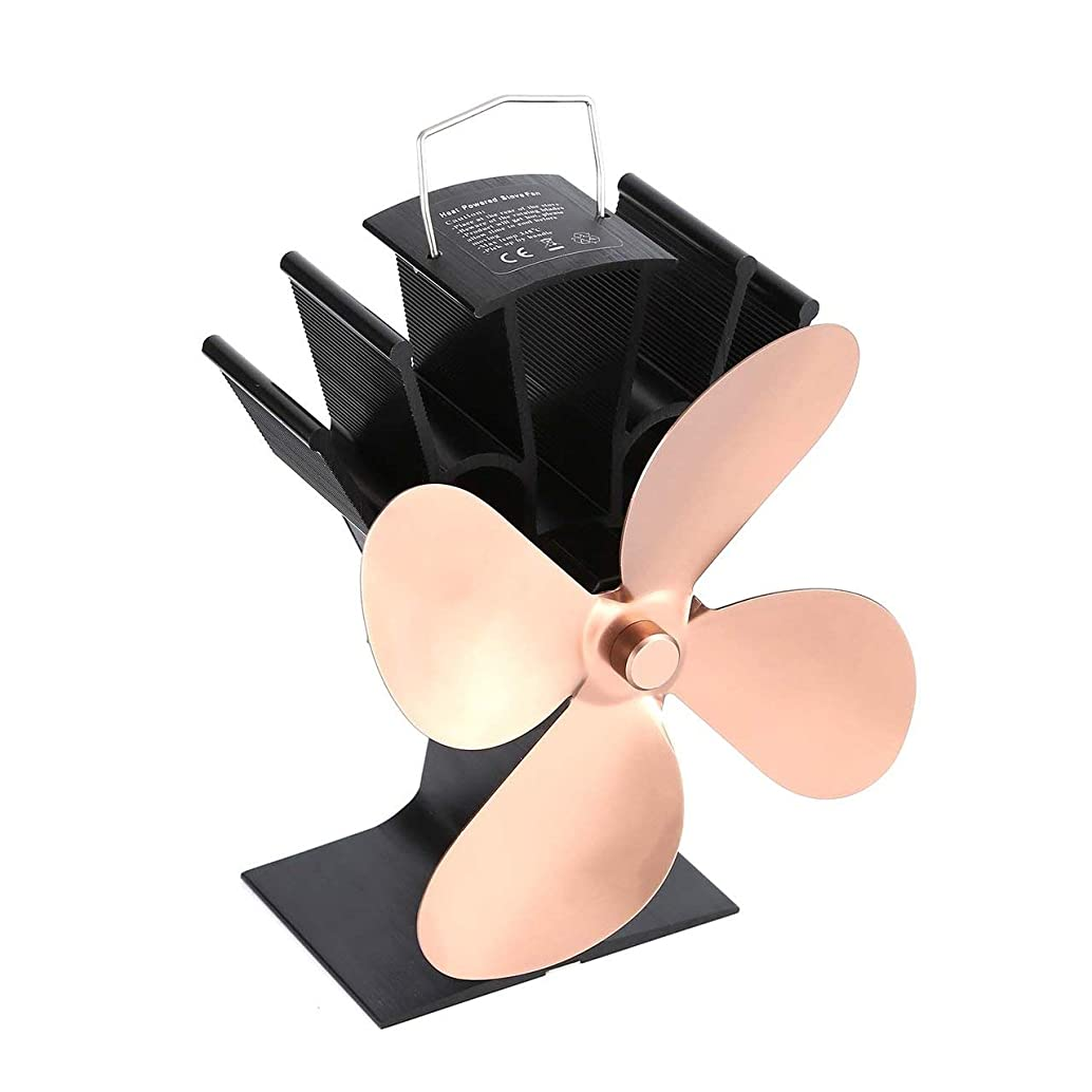 Thermal Power Fireplace Fan Heat Powered Wood Stove Fan for Wood/Log Burner/Fireplace Eco Friendly Four-leaf Fans