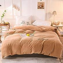 JY&WIN Aksamitna poszwa na kołdrę, jednolity kolor pluszowa flanelowa luksusowa sztuczne futro ciepła bardzo miękka poście...