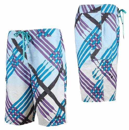 Nike Herren Board Short Julian + Scout Laces Badehose Badeshort Schwimmen bunt, Weite/Länge:29/30;Farbe:451791-100 Weiß/Blau
