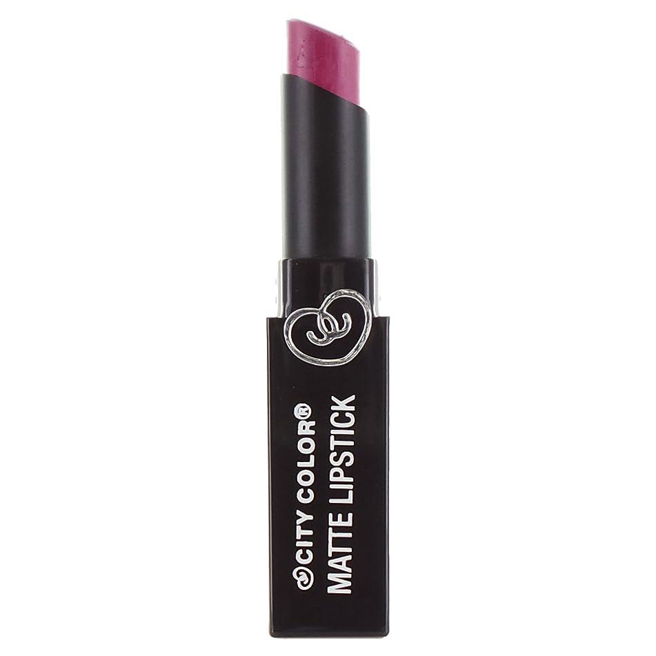 オズワルドローン郵便番号(3 Pack) CITY COLOR Matte Lipstick L0050 - Rebel (並行輸入品)