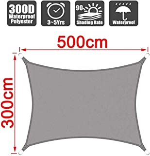 Hemanzi 300d Waterproof Water Polyester Square Rectangle Shade Sail Garden Terrace Canopy Swimming Sun Shade Camp Hiking Y...