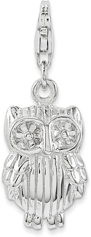 Sterling Silber Eule Charme B071R9T3K8