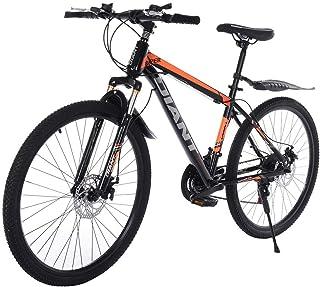 GHGH 26in Mountain Bike Full Suspension Road Bikes with 21 Speed Dual Disc Brakes Steel Frame MTB Bikes for Men/Women
