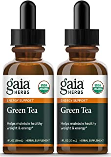 Gaia Herbs Green Tea Leaf, Liquid Supplement, 1 Ounce (Pack of 2) - Polyphenol Antioxidants, Healthy Inflammatory Response...