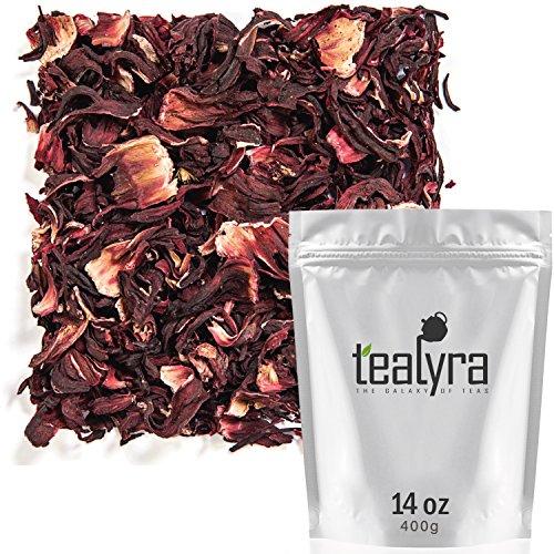 Tealyra - Pure Hibiscus Herbal Tea - Loose Leaf Tea - Organically Grown - Lower Blood Pressure & Help Weight Loss - Vitamins Rich Tea - Healthy Tea - Caffeine Free (14oz / 400g)