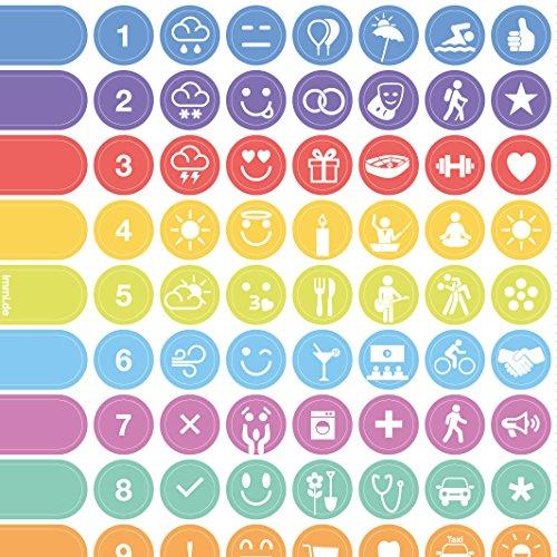Adesivi organizer per agenda settimanale, da parete e taccuini con icone per ogni occasione Alle Zeichen