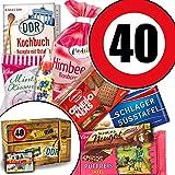 Ostalgie Geschenkset / Geschenk Idee Mutter / Zahl 40 / Süssigkeiten Box