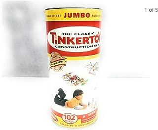 Jumbo Tinkertoys 102 pieces