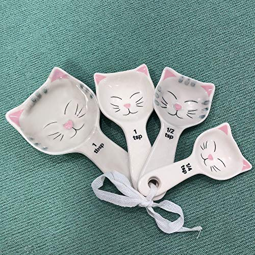 Bean Estore 5 Piece Cat Shaped Measuring Spoon Set with Ribbon