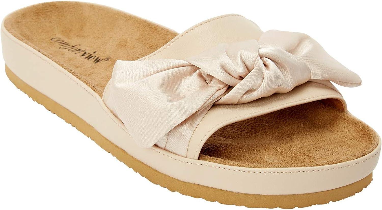Comfortview Women's Wide Width The Stassi Footbed Sandal