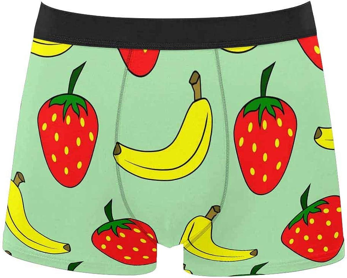 InterestPrint Men's Underwear Boxer Briefs Underwear for Juniors Yoth Boys Split Marble Wall