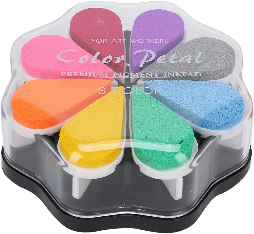 Stamp Pad Ink Excellent Performance Popular brand in the world Petal 8 Shape Colors Clearance SALE! Limited time! St