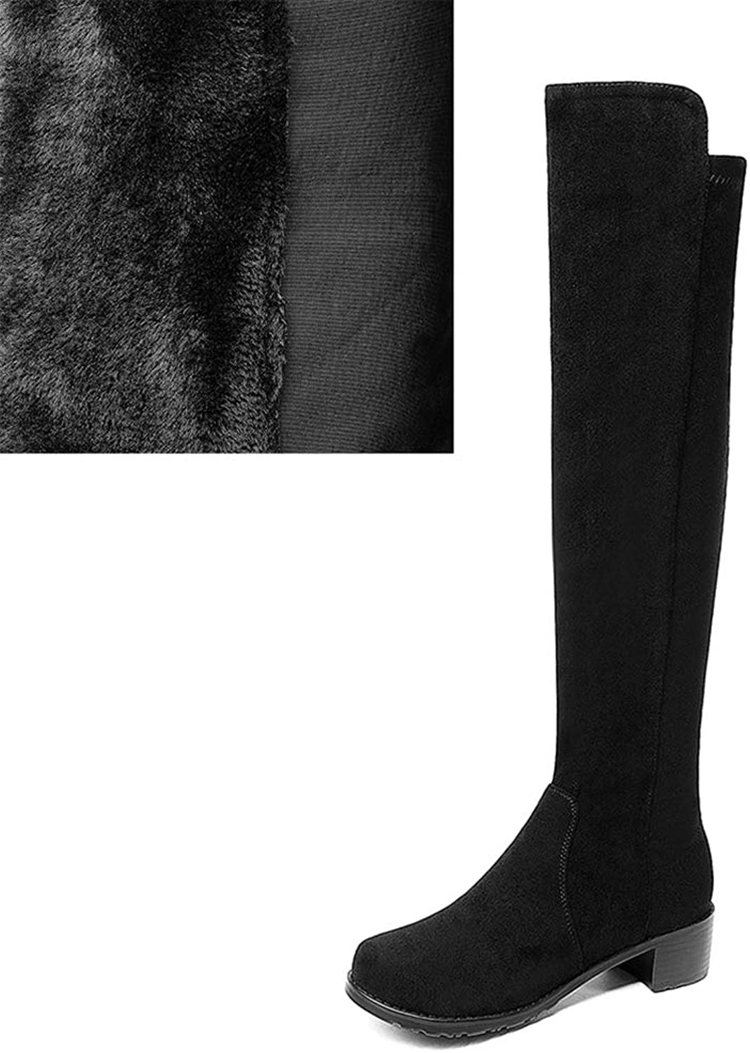 Trendy Knee-High Boots Women's shoes Large Sizes 34-43 Leisure Female Riding Boots Woman