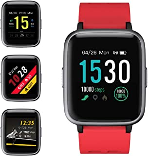 WUAZ Relojes Inteligentes Reloj Deportivo 14 Modos Deportivos Rastreadores de Actividad Impermeables Reloj Inteligente con podómetro Frecuencia cardíaca Monitor de sueño Mensaje recordatorio