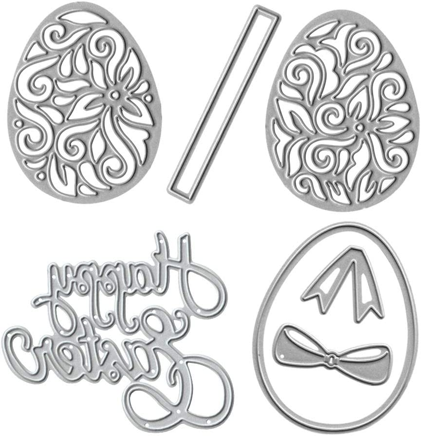 Nashville-Davidson Mall Metal New product type Easter Die Cuts Eggs Embossing and Cu Happy Stencil