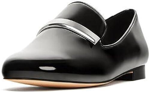ZZZJR zapatos de moda de mujer plana Sensación de Diseño retro simple Mocasines planos con zapatos perezosos zapatos de conducción cómodos