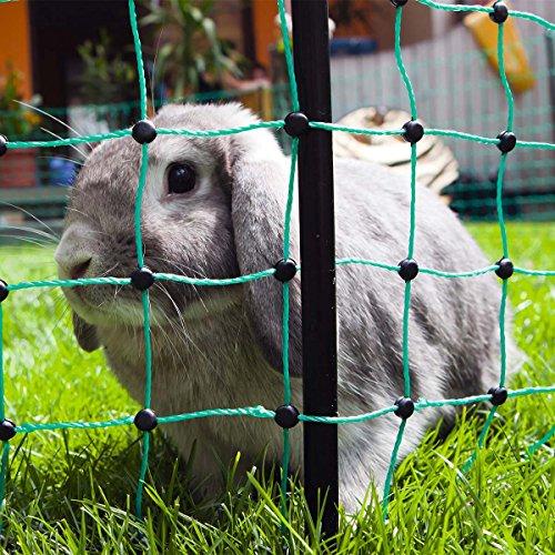 Kaninchennetz Elektrozaun 12 Meter elektrifizierbarer Gartenzaun für Kaninchen/Nagetiere/Hasen