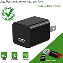 Hidden Camera-Spy Camera-Mini Spy Camera 1080p-USB Charger Camera - Hidden Spy Camera-Hidden Nanny Cam-Hidden Spy Cam-Hidden Cam Full HD with Removable 32GB SD Card - No Wi-Fi Needed.
