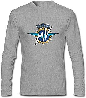 Fashion Design Motorcycles Logo MV Agusta Motor Men's Long Sleeve T-Shirt
