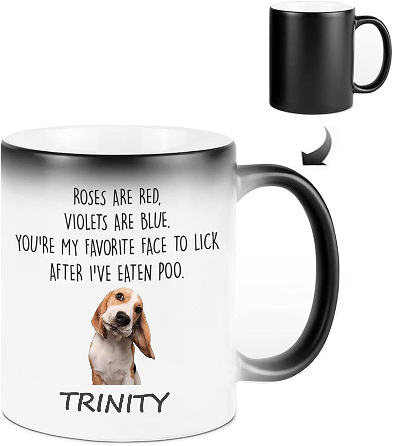 Personalized Roses Are Red Violets Blue Mug Dog Baltimore Mall Industry No. 1 Name Custom