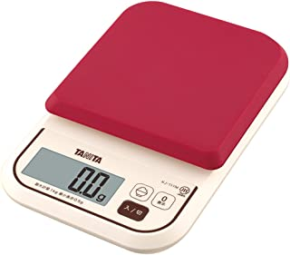 タニタ はかり スケール 料理 カロリー 1kg 0.5g レッド KJ-111M RD ごはんのカロリーがはかれる