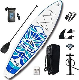 Fklee Kit de Tablas de Remo inflables Sup de River Journey, 6 Pulgadas de Espesor Tabla de Surf (Color : Azul, tamaño : 320x84x15cm)