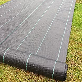 Yuzet 09-001005-00-25 2 x 25 m/ 100 g Membrane Landscape Fabric Heavy Duty Weed Control Ground Cover