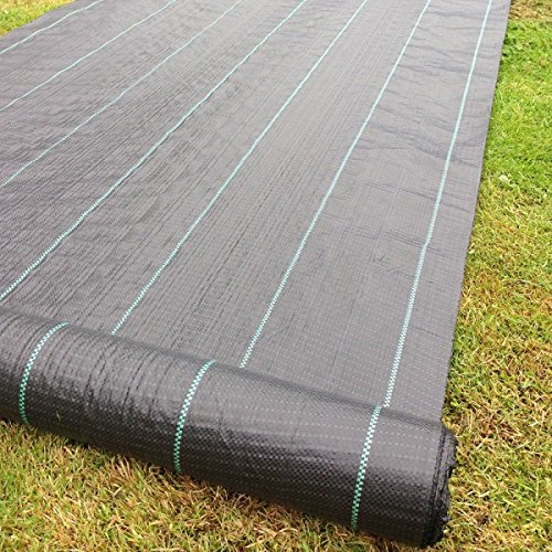 Yuzet 09-001006-00-10 2m x 10m 100g Weed Control Ground Cover Membrane...