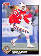 1991 Score Football #69 Fred Marion New England Patriots Official NFL Trading Card