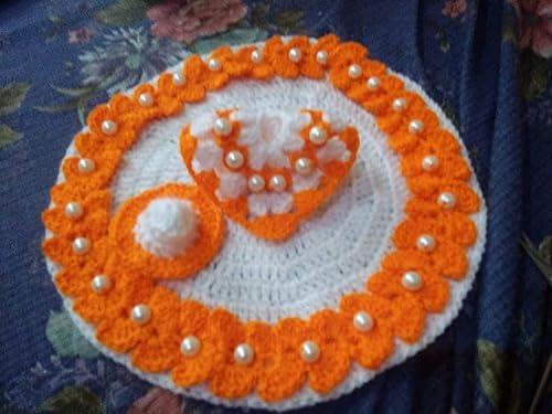 Generic Woolen Fashion God Dress for Kanhaji Laddu Gopal Radhe Shyam Krishanji Bal Gopal Kanhaiya Murlidhar Multicolor Size 3