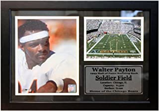 Encore Select 126-43 NFL Chicago Bears Framed Walter Payton Photo and Soldier Field Print with Nameplate, 12-Inch by 18-Inch