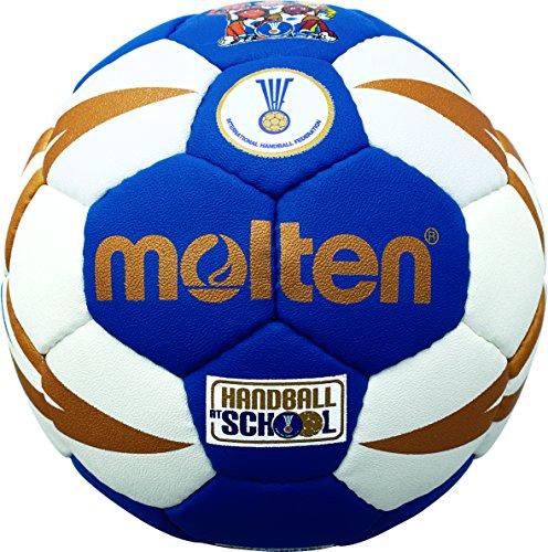 Molten Kinder Handball - H0X1300-BW , Mehrfarbig (Blau/Weiß/Gold) - Einheitsgröße