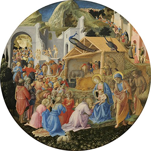 Fra Angelico and Fra Filippo Lippi: The Adoration of the Magi. Biblical Fine Art Print/Poster (16 x 16 Inches)
