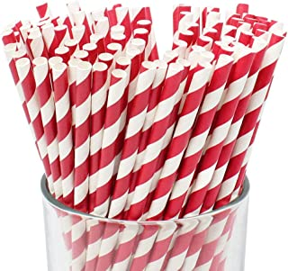 Best red striped plastic straws Reviews