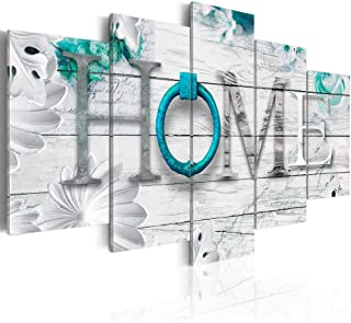 Dreamy Home Decoration Large 5 Panels Turquoise Canvas Print Painting Modern Wall Art..
