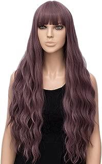 netgo Women's Wig Long Fluffy Curly Wavy Hair Wigs for Girl Heat Friendly Synthetic Wigs (Light Purple)