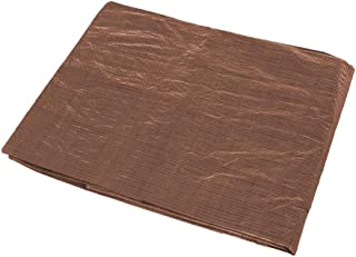 brown tarpaulin sheet