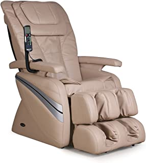 Osaki OS1000C Model OS-1000 Deluxe Massage Chair, Cream, 5 Easy to Use Preset Auto Program, 4 Massage Types, Intelligent 4 Roller System, Reclines to 170 Degrees, Adjustable air Massage