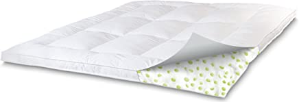 SensorPEDIC Memory Loft Classic 2.5-Inch Memory Foam/Fiber Bed Mattress Topper Queen Size,  White