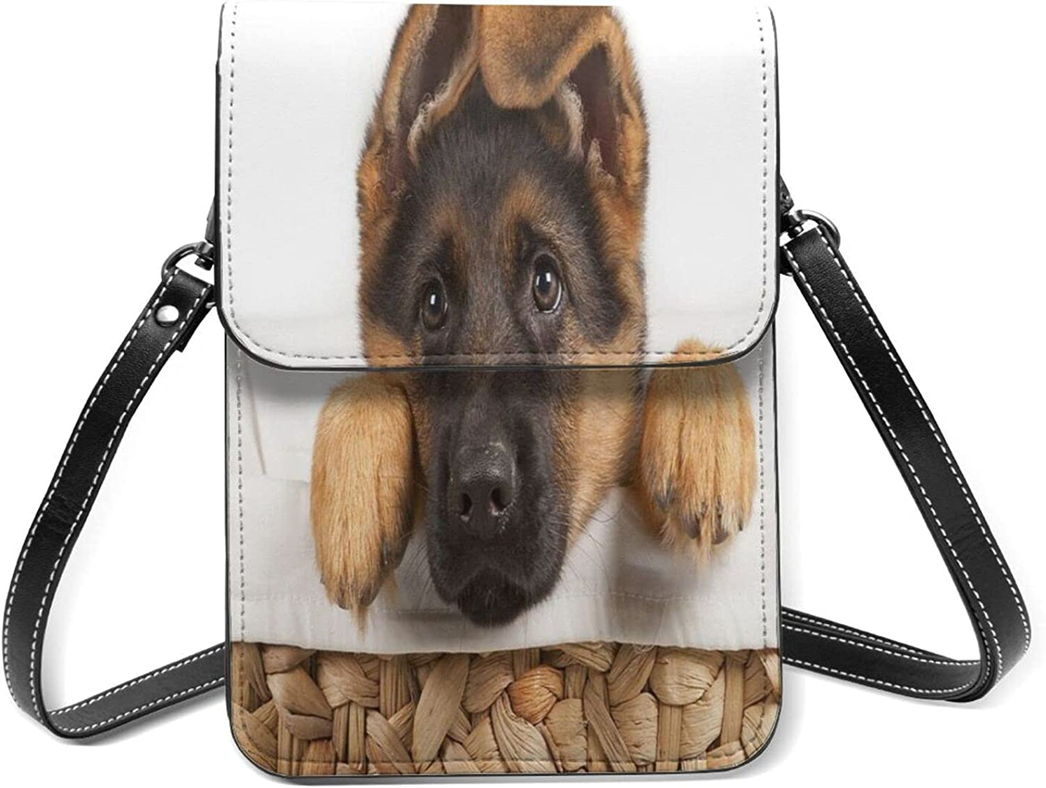 German Shepherd Puppy Small Cell Lightweight Special price for Time sale a limited time Wi Flip Phone Purse