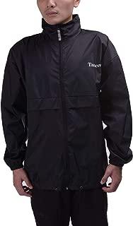 Thin Unlined Pack-Able Bike Men's & Women's Fall Lightweight Nylon Waterproof Windbreaker Jacket with Hood