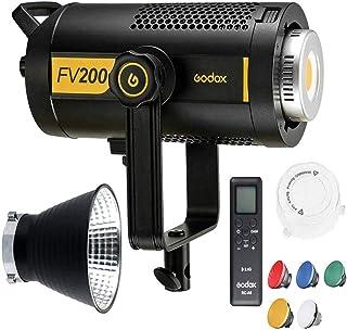 Godox FV200 Flash de sincronización de Alta Velocidad de 200W y luz LED Continua, CRI 95 + TCLI 96+, 18000LUX, 1/8000S HSS...